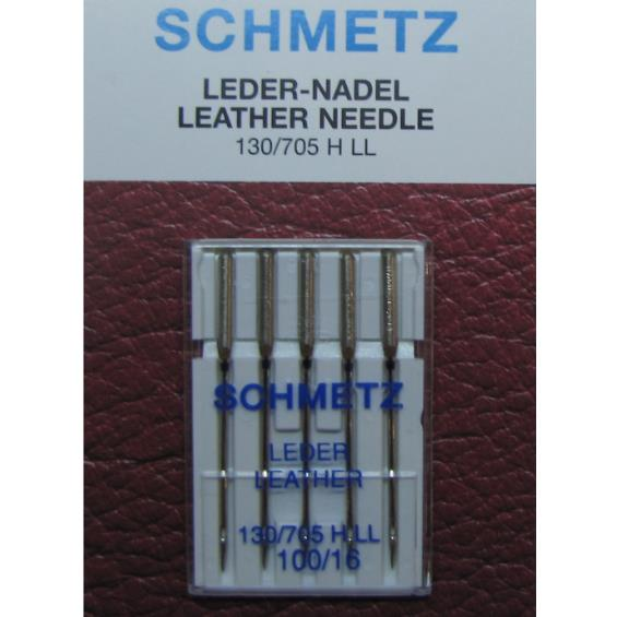 Иглы Scmetz №100 LEDER, LEATHER - кожа и кожзам (лопатка)